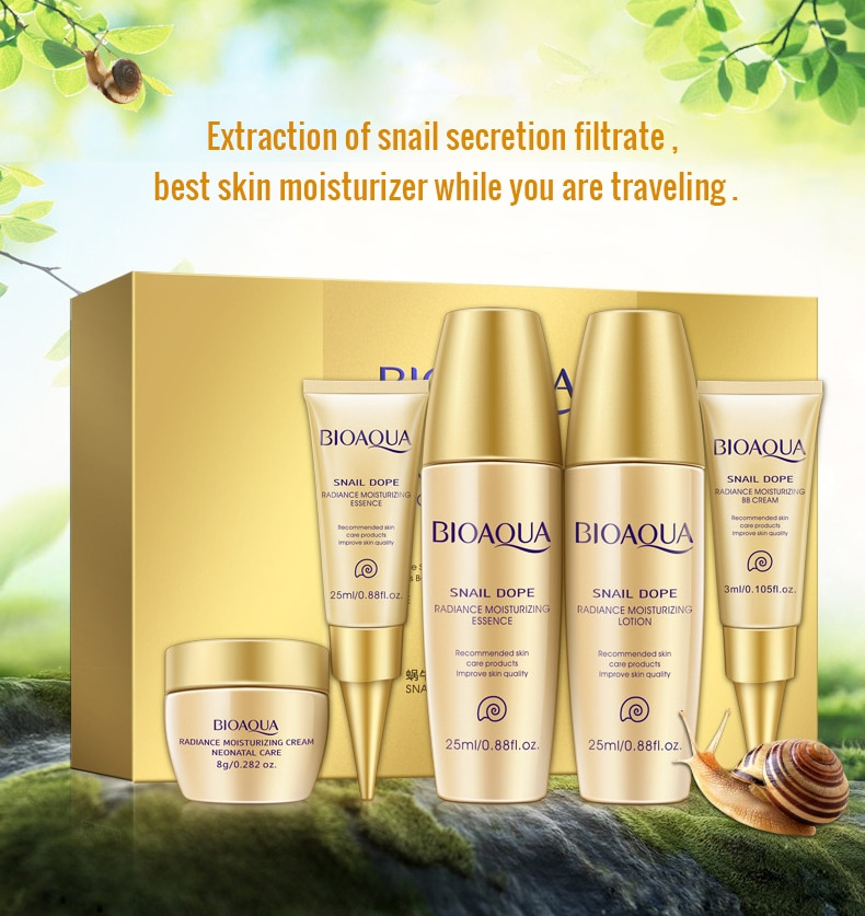 Women's Snail Face Skin Care with Hyaluronic Acid Set 5 Pcs